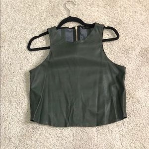 Zara leather crop top